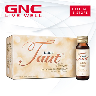 GNC[Your Skin  Years Younger] LAC Taut® Collagen Drink plus Placenta (50ml  x 8 bottles) [GNC Exclusive]