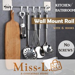 Wall Mount Rail/kitchen hooks/rack/hook/kitchen rack/kitchen organiser/kitchen storage