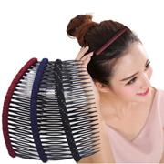 Simple Headdress Fabric Plastic Hair Combs Teeth Hairpin