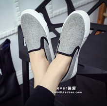 2018 Spring Thick Bottom Loafers women s shoes pedal lazy shoe Korean Style female