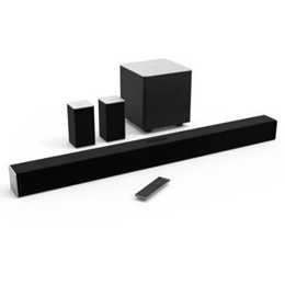 Refurbished Vizio 38&quot  5.1 Channel Sound Bar with Wireless Subwoofer and Satellite Speakers (SB3