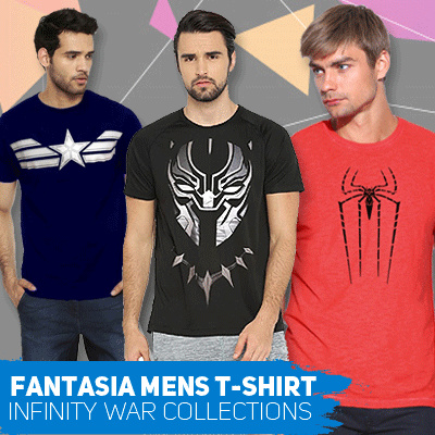 Fantasia T-Shirt Pria Avengers Infinity War Collections Deals for only Rp39.000 instead of Rp39.000