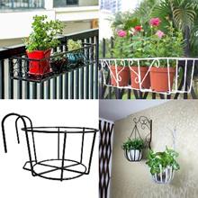 Flower Rack Parapet Balcony Corridor Railing Hanging Plant Pot Basket