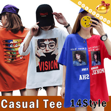 ◆Korean Style Loose T-shirt Dress◆Casual Tee/ Fashion One-piece/ Homewear/ Unique Design and Logo