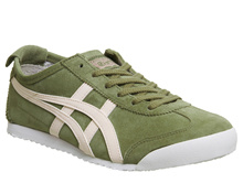 Onitsuka Tiger Mexico 66 Trainers Khaki Pink Suede