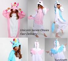INSTOCK Unicorn Series Onesie cum Costume*Micro Polar Fleece*Cosplay*Party*