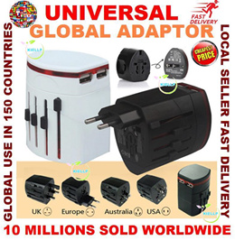 GSS Sale Detachable Universal Dual Port USB charger adapter/world Travel Adapter changeable plug