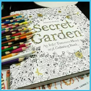 Secret GardenColoring Book Painting Drawing For Children Adult Relieve Stress Relax An Inky Treasure Hunt Garden Colouring English