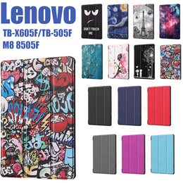 Lenovo Tab M10 TB-X605F TB-505F M8 8505F case Flip Magnetic Shockproof Case Cover Stand Leather