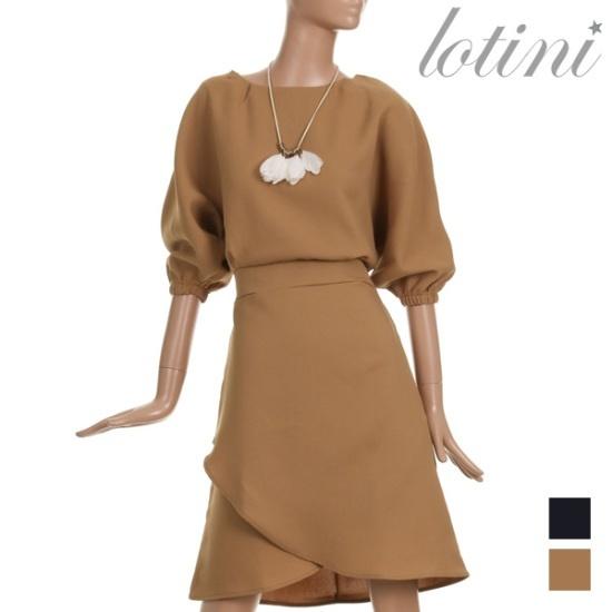 ロティニLOTINIロマンチックシンプルラップワンピースLTJOP10 面ワンピース/ 韓国ファッション