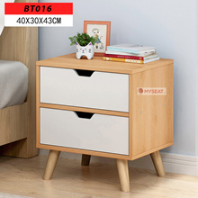 Modern Minimalist 2 Drawer Bedside Cabinet / Bedside table / Beside Storage