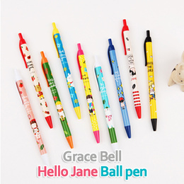 [GraceBell]★ Hello Jane Ballpen ★ Ballpen/ Black/ Red/ Blue/ Get Peace/ Pray/ Thank/ Glad/ Bless/ I love you/ Praise/ Together/ Light/ SBA_091