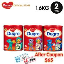 【Apply $35 Shop+$20 Cart Coupon】Dumex Dugro Stage 3 / 4 / 5  Growing Up Milk Formula 1.6kg-2tins