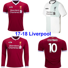 17/18 Liverpool Soccer Jersey 16-17-18 Liverpool Home Away Goalkeeper Men Women Kid Football Shirt