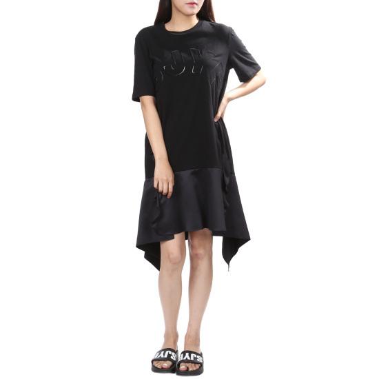 エスジェイとジェイピーのロゴラッフルワンピースPWMR3WO030 面ワンピース/ 韓国ファッション
