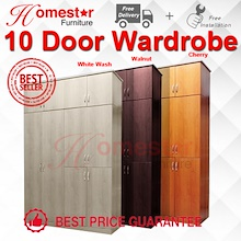 HOMESTAR. CHEAPEST 10 DOOR WARDROBE FREE DELIVERY + INSTALLATION