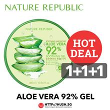 Nature Republic Aloe Vera Series - 80% Emulsion 90% Toner 92% Soothing Gel 92% Soothing Gel Mist