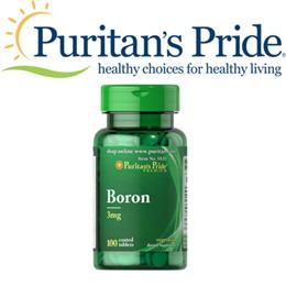 Puritans Pride Boron 3 mg / 100 Tablets / Item #005820 / Prevents Arthritis / Body Building / Bone Health / PMS