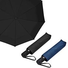 Portable three-stage automatic umbrella black / navy / automatic folding / high class / simple / noble / private / rain / seasonal essentials