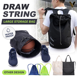 [Limited time offer] Plain WATER PROOF drawstring bags for gym can store iphone | powerbank | laptop