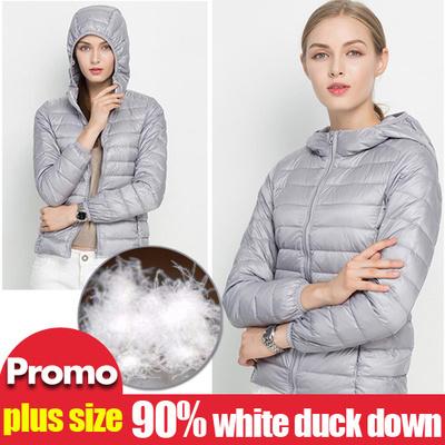 fe440bdf963 Winter Ultra Light Down Jacket 90% Duck Down Hooded Jackets Long Sleeve Warm  Slim Coat
