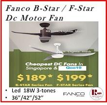 $189 bstar FANCO Alaska DC Ceiling Fan Heli 56 inches/ B Star / F Star Led Light fstar bstar Parson