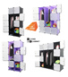 【Free Shipping】LivingCabinet Cubes Dark Veins DIY Cabinet Wardrobe (Black and Purple) [6/8/8+2/12/16 Cubes Available]