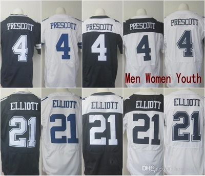 outlet store 21c2e 8a4fb Elite Jerseys 4 Dak Prescott 21 Ezekiel Elliott blue white thanksgiving day  Game Men Women Youth Kid