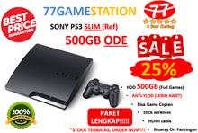 PS3 Slim ODE 500GB(BISA GAME COPIAN)+ PAKET LENGKAP