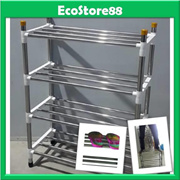HIGH QUALITY Shoe Rack 4 Tier Stainless Steel with Black Colour Joint