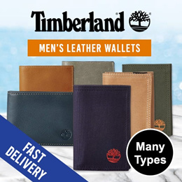 [SG STOCK~ 2 DAYS DELIVERY] TIMBERLAND MENS LEATHER AND NYLON WALLETS  (WITHOUT BOX)