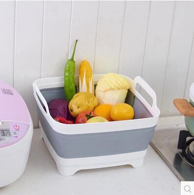 Foldable sink Wash basket Fruit and vegetable drain drain basket