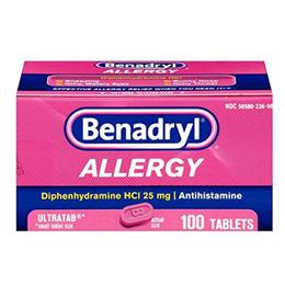 [무료배송] 베나드릴 100 Benadryl Antihistamine Allergy Relief