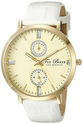 6ab49fec75b7 (Ted Baker) Ted Baker Women s TE2105 Smart Casual Gold Dial Gold Case White