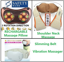2018 Shoulder neck Infrared Heating Massage Pillow Home Car Shiatsu Massager