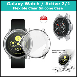 [SG] Samsung Galaxy Watch / Active 2 / Active 1 / S3 Clear Silicone Case - 46mm/42mm/44mm/40mm