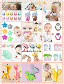 SILICON TEETHER BABY BANANA ANIMALS PACIFIER CLIP TOOTHBRUSH! SOOTHE GUMS ORAL CARE DIY! BPA FREE