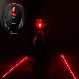 Cycling Bike MTB Bicycle 2 Laser Beam 5 LED Rear Lamp Tail Light Safety Flashing Light