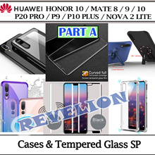 PART A ★SG★Huawei Honor Mate 10 P20 Pro Nova 2 Lite P10 P9 Plus Case Tempered Glass Screen Protector
