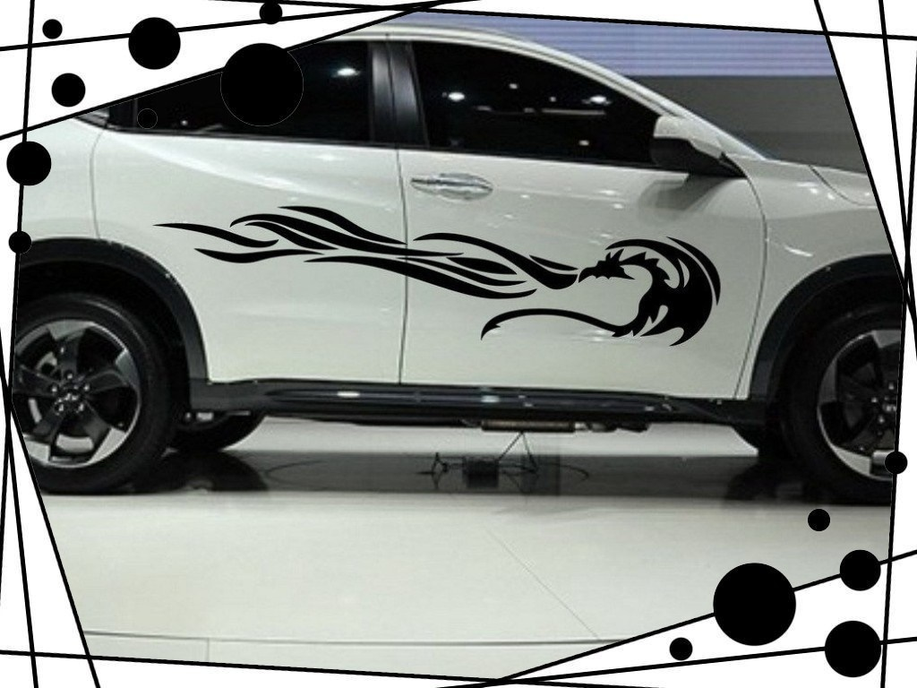Fit to viewer prev next car decal vinyl stickers side body