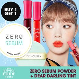 [ 1 + 1 ] Etude House Zero Sebum Powder/Dear Darling Water Gel Tint