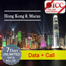 ◆ ICC◆【Hong Kong / Macau Sim Card · 3/4/7/8 Days】Unlimited data 4GLTE/3G❤ CSL❤CMHK❤3 ❤  + ❤Calls❤