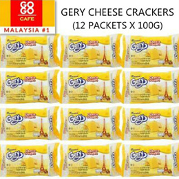 yummy deal! (pls note that stock send out after 10 june) GERY CHEESE CRACKERS 12PKTS X 100G