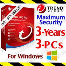 Trend Micro Maximum Security - 3 YEAR 3 PC ***** by Email | antivirus anti virus