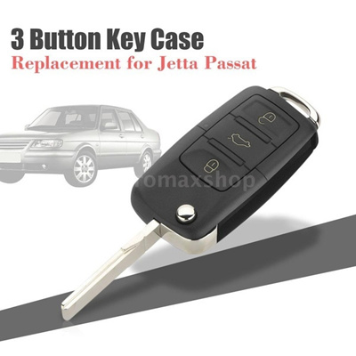 Qoo10 For Vw Jetta 3 Button Car Remote Key Fob Case Replacement