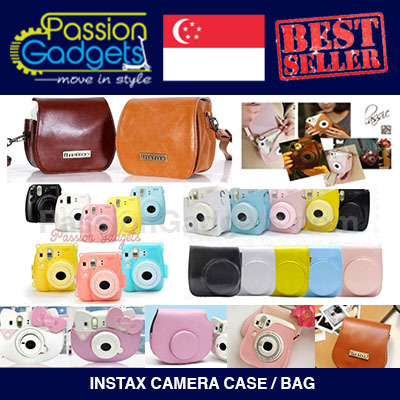 329ec36fb4ef ☆Mini 7S Mini 8 25s 50s 210 Leather Bag Transparent cover Casing Pouch☆ Polaroid