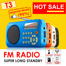 Mini Radio * FM Radio * T3 W505 * Portable Radio Player with SD Card Slot 
