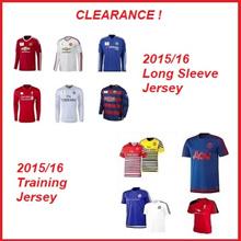 Clearance! 2015/16 Long Sleeve Training Jersey]Man Utd/Liverpool/Real Madrid/Barcelona/Chelsea