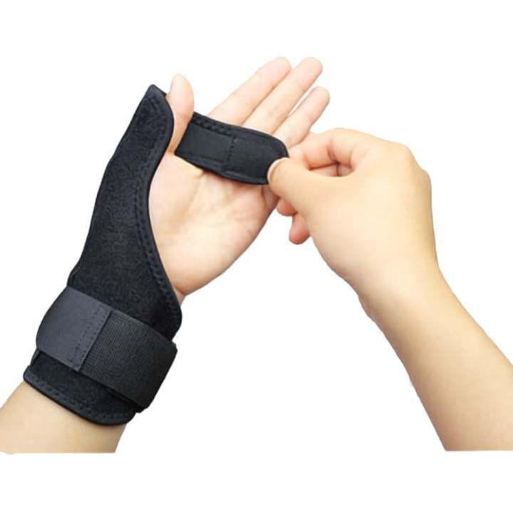 Left Hand Thumb Brace Guard Wrist Support Splint Stabiliser Sprain  Arthritis Pain Relief Gear (Black
