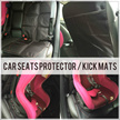 Car Seat Protector For Baby Infant Car seats / Kick Mats  - Automotive Backseat Protector Mat to use Under Child Car Seat Bases as Leather Upholstery Seats Covers or Back Carseat Protectors